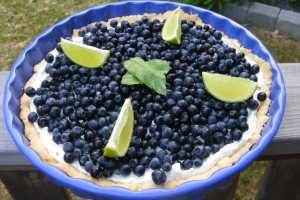 blåbärspaj med sirap