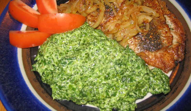 Recept med fryst spenat