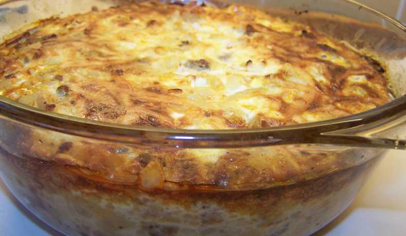 recept makaronilåda med köttfärs