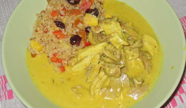 grillad kyckling curry