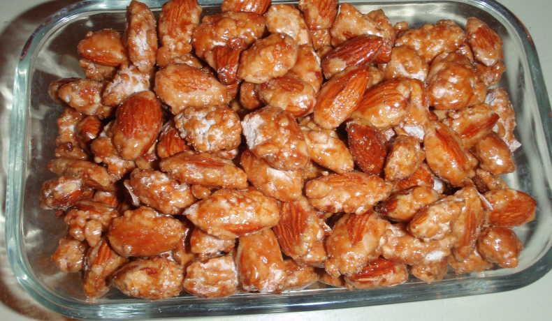 recept på brända mandlar