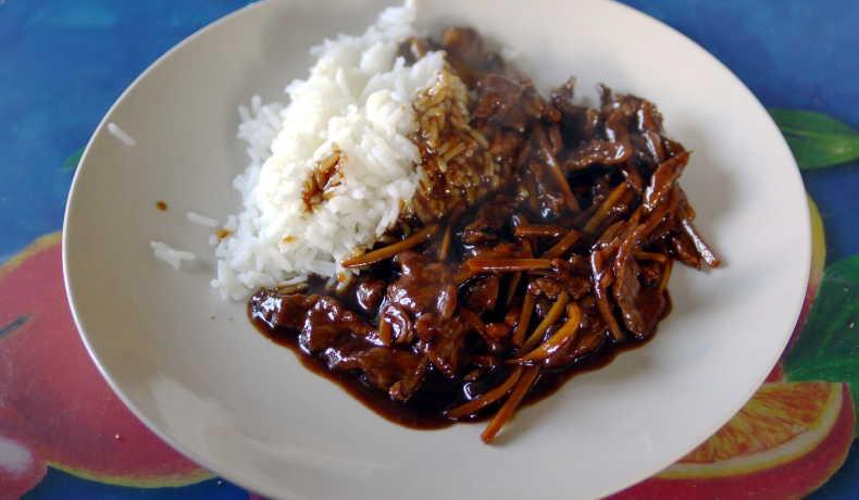 strimlad lövbiff kinesisk recept
