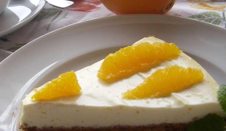 pepparkakscheesecake med apelsin