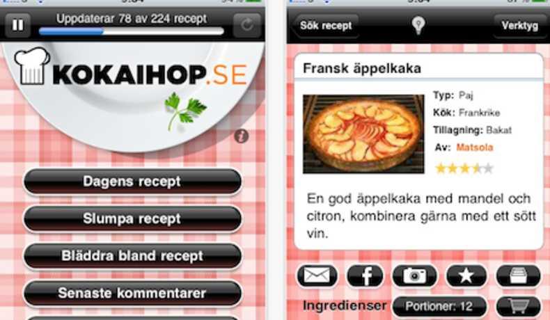 bästa recept appen