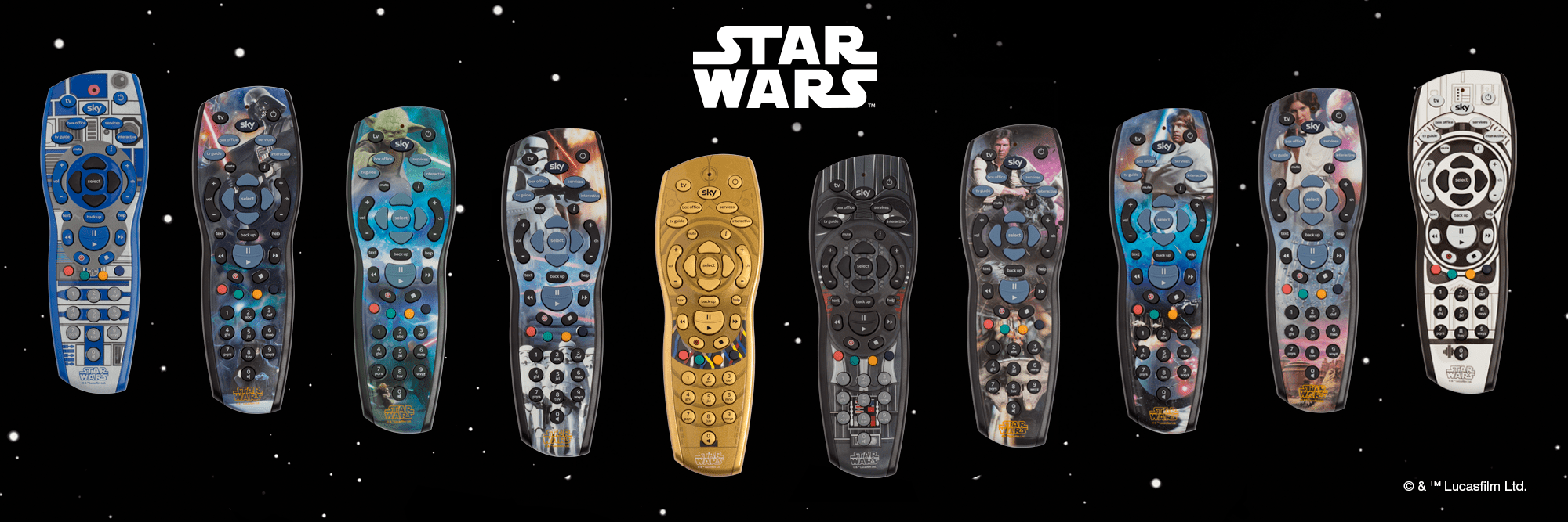10 exclusive Star Wars™ Sky+HD remotes