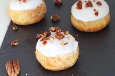 Choux à la vanille et noix de pécan