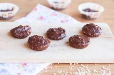 Bouchées au chocolat et quinoa soufflé