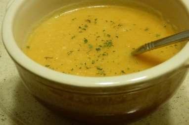 Potage de carottes et céleri rave