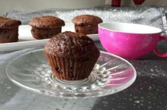 Muffins chocolat avec coeur fondant chocolat blanc