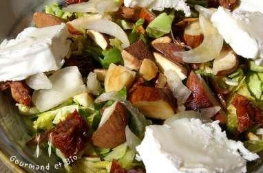 Salade de choux de Bruxelles à l'huile essentielle de menthe poivrée