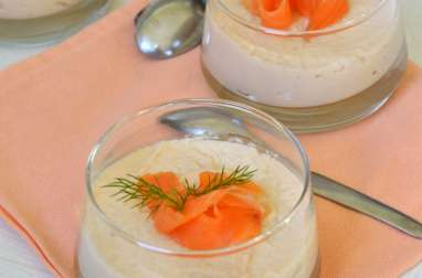 Panna cotta de chou-fleur au saumon fumé