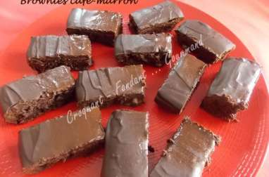Brownies café-marron.