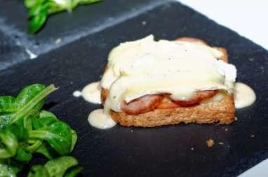 Tartines Normande, sauce Pommeau