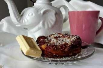 Clafoutis framboises et chocolat blanc