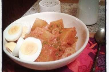 Curry de pommes de terre vindaloo