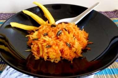 Salade de carottes et mangue râpées