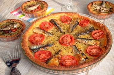 Pissaladière sardines tomates