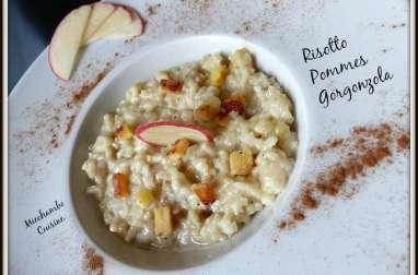 Risotto à la pomme et au gorgonzola