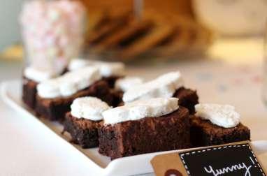 Brownies aux pépites de chocolat et guimauves