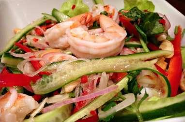Salade asiatique aux fruits de mer