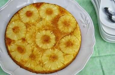Gâteau renversé coco ananas