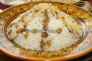 Riz, cuisine marocaine