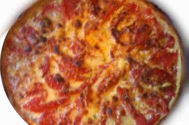 Tarte à la tomate épicée, crème et moutarde, aux fines herbes de Provence