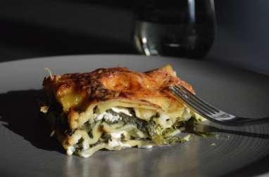 Lasagnes épinards et chèvre frais
