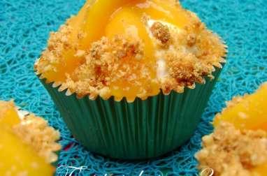 Cupcakes à la mangue, mascarpone au citron vert et crumble citronné
