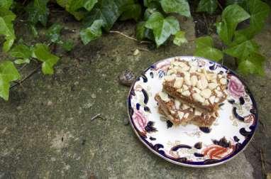 Carrés crousti-fondants caramélisés au beurre de cacahuètes