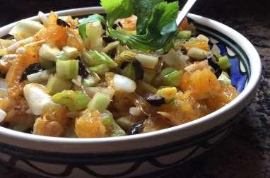 Salade d'orange, olives et céleri