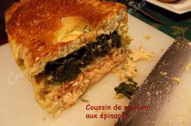 Coussin saumon-épinards