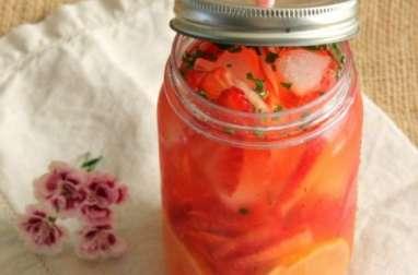 Eau aromatisée à la fraise