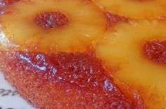 Gâteau renversé à l'Ananas et Caramel
