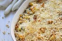 Courgettes au fromage, soufflées, gratinées (sans gluten)