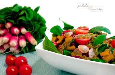 Salade d'haricots rouges et poivrons