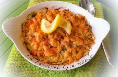 Crumble Parmesan Aux Deux Saumons – Poireaux
