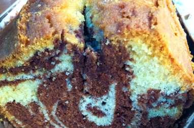 Le cake marbré chocolat et fève tonka