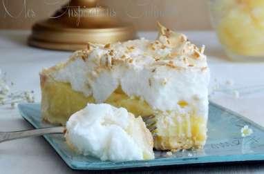Tarte a la noix de coco et ananas meringuée