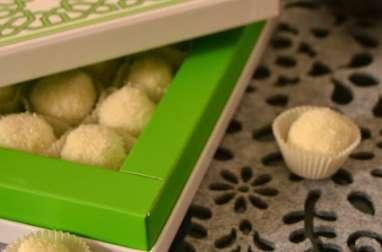 Truffes chocolat blanc et noix de coco