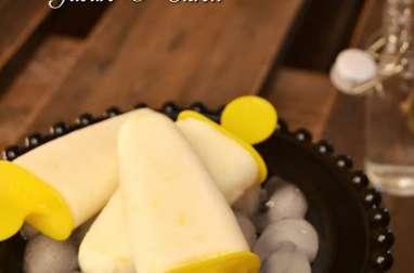 Glaces au citron et yaourt