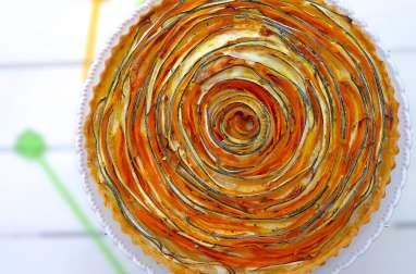 Tarte en forme de fleur aux légumes printaniers