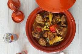 Tajine d'agneau au fenouil, tomates et courgettes