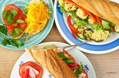 Un, deux, trois sandwichs vegans