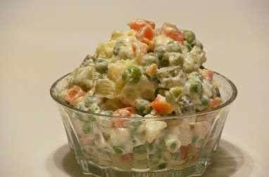 Cornets de jambon à la macédoine de légumes