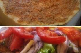 Pizza turque à la viande hachée - Lahmacun ( Turquie, Arménie, Liban )