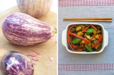 Ragoût d'aubergines à la thaï
