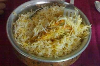 Riz basmati au poulet, hyderabadi biryani, Ramadan (Inde)
