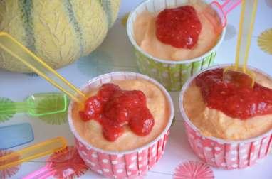 Yaourt glacé au melon sans sorbetière