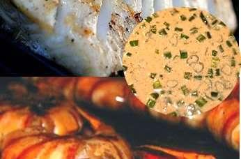 Cabillaud et crevettes au barbecue, plancha sauce Bayou (Louisiane, Etats-Unis)